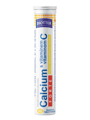 Biotter Calcium s vitamínem C FORTE 20 ks citrón šumivých tablet