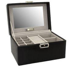 Friedrich Lederwaren Moderna črna škatla za nakit Milano 20142-2
