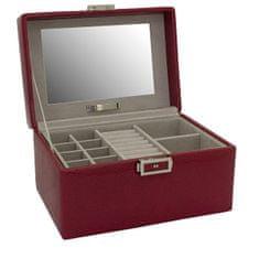Friedrich Lederwaren Brezčasna rdeča škatla za nakit Milano 20142-4