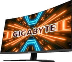 Gigabyte G32QC A QHD ukrivljen monitor, 2560 x 1440, 1ms, 165Hz, HDR400, USB 3.0, 80 cm (31,5'')