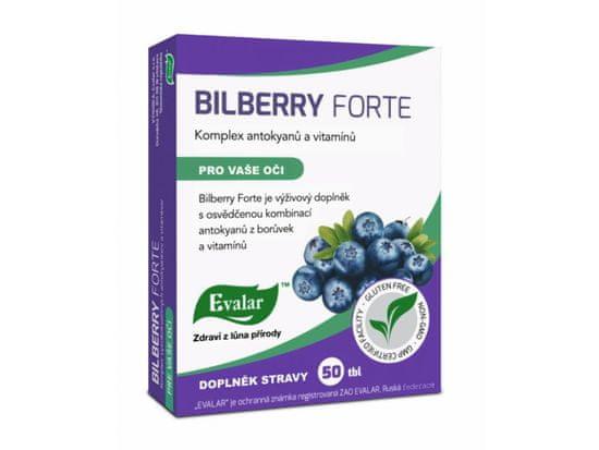 Evalar BILBERRY FORTE doplněk stravy pro vaše oči 50 tablet