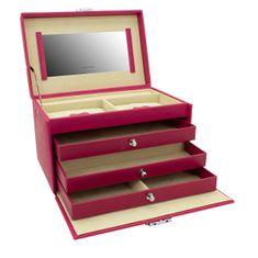 Friedrich Lederwaren Prepoznavna škatla za nakit iz fuksije Jolie 23256-57