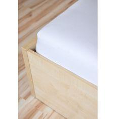 Amitesse Biela froté plachta na posteľ - rôzne veľkosti Rozmer: 100 x 200 cm