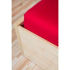Amitesse Červená plachta na posteľ Jersey SuperStretch - rôzne veľkosti Rozmer: 90/100 x 200 cm W1_300