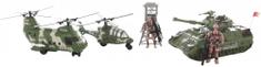 Lamps zestaw wojskowy z helikopterami i czołgiem