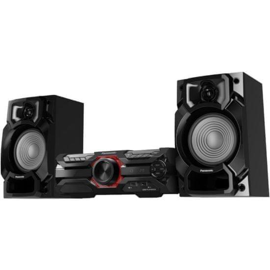 PANASONIC SC-AKX320E-K Mini-Hifi Erőteljes basszus és tiszta hangzás D.Bass Beat / 16 cm-es mélysugárzó MAX Juke alkalmazással fekete színben