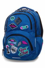 CoolPack Školní batoh Dart Badges blue