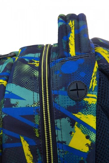 CoolPack Školní batoh Spiner Abstract yellow