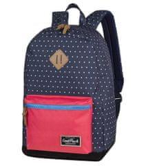 CoolPack Školní batoh Grasp Navy blue dots