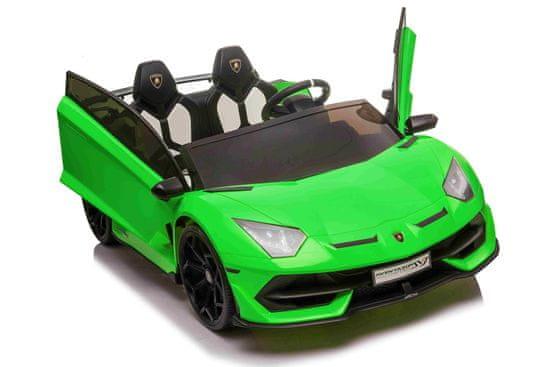 Beneo Elektrické autíčko Lamborghini Aventador 24V Dvojmiestne, LAKOVANÉ, 2,4 GHz DO, mäkké EVA kolesá