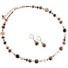 Lampglas Luxusní souprava šperků z perel Lampglas Frozen Berries SET X1 (náhrdelník, náušnice)
