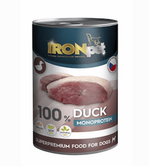 IRONpet Dog Duck (Kachní se zeleninou) 100% Monoprotein 400 g