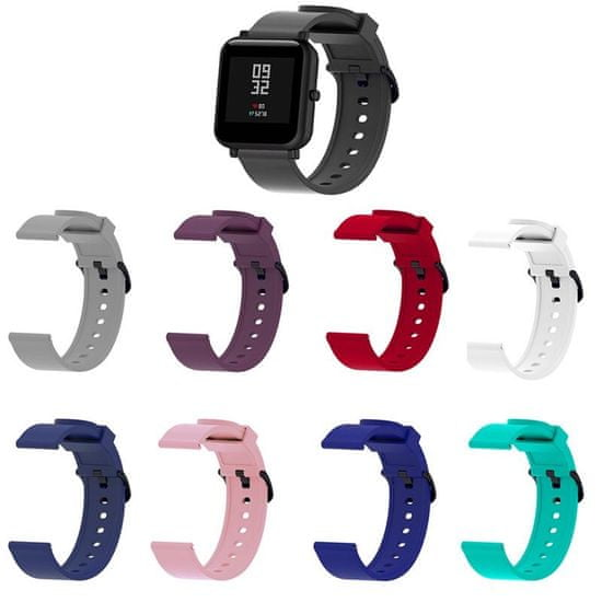 BStrap Samsung Galaxy Watch Active 2 40/44mm Silicone szíj v4, Black