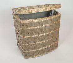 Koš, košara, zaboj, zabojnik za perilo, igrače, ovalni, pleten, mere cca 39x26x36 cm, natur