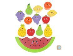 InnoVibe Dřevěná hra - Balancující ovoce