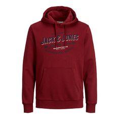Jack&Jones Moška jopica JJELOGO 12189736 Red Dahlia (Velikost S)
