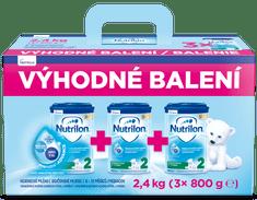 Nutrilon 2 pokračovacie dojčenské mlieko 3x 800g, 6+ - výhodné balenie