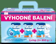 3 batolecí mléko 3x 800 g, 12+ – výhodné balení