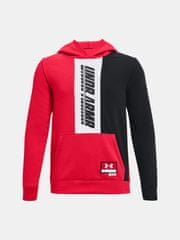 Under Armour Pulover UA BOYS BASELINE HOODIE-RED XS