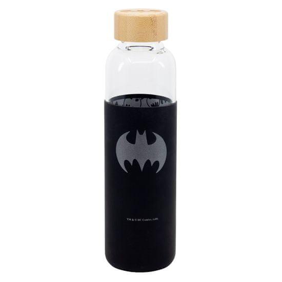 Stor Sklenená fľaša so silikónovým povrchom BATMAN 585ml, 85513