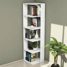 Homemania Knihovna Corner 41,8 x 41,8 x 160,8 cm bílá