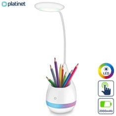 Platinet PDL4R namizna in nočna LED svetilka, bela