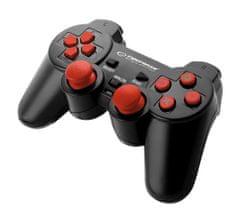 Trooper igralni plošček PC/PS3 USB, črno - rdeče