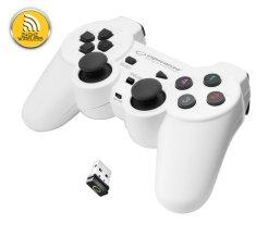 Gladiator brezžični igralni plošček PC/PS3 USB, bela