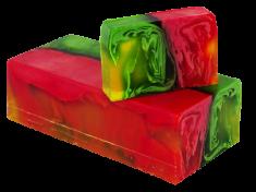 L´Cosmetics Prírodné ručne robené mydlo bez SLS - Jablko a Granatové jablko 100g +/-6%
