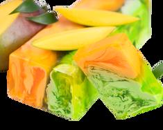 L´Cosmetics Prírodné ručne robené mydlo bez SLS - Tropické mango 100g +/-6%
