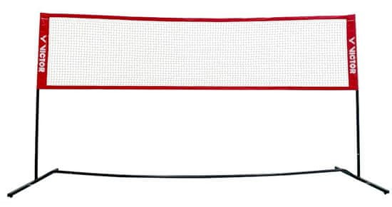 Victor Mini Badminton Net Premium multifunkční síť, červená, 3 m