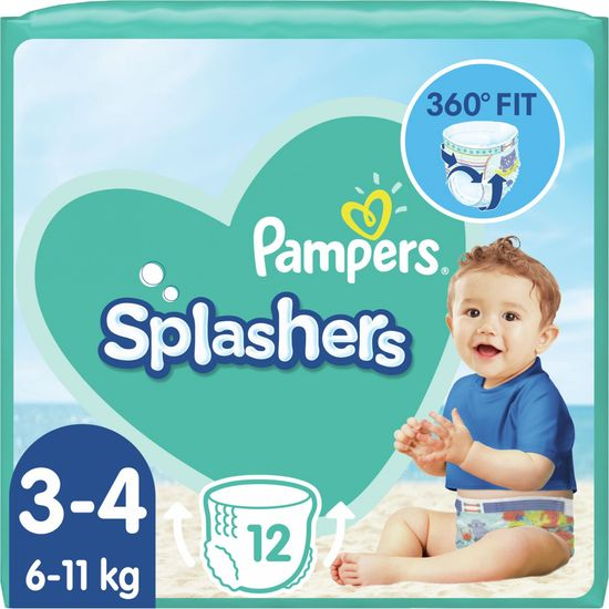 Pampers hlačne plenice za v vodo Splashers 3-4 (6-11 kg) 12 kosov