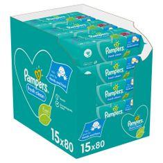Pampers Fresh Clean Baby detské čistiace obrúsky 15 balení = 1200 čistiacich obrúskov