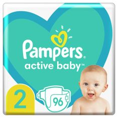 Pampers Active Baby Plienky Veľkosť 2 96 ks, 4kg - 8kg