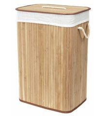 Compactor bambus koš za perilo s pokrovom, iz bambusa, pravokoten, naraven, 40 x 30 x 60 cm