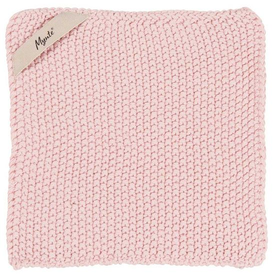 IB Laursen pletená bavlněná chňapka Mynte English Rose 22x22 cm
