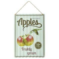 Esschert Design Plechová vlnitá cedulka Apples