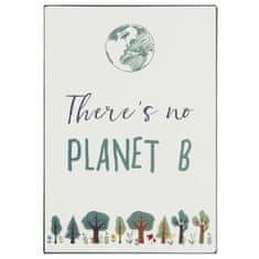 IB Laursen plechová cedulka There's no Planet B