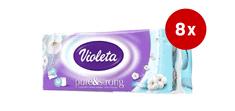 Violeta Strong & Soft toaletni papir Bombaž, 3-slojni, 8 x 10/1