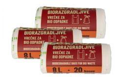 Piskar biorazgradive vrećice 8L / 20 komada / 3kpl