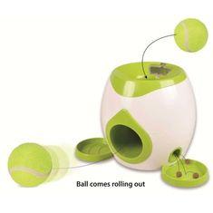 Flamingo Interaktivní hračka na pamlsky s tenisovým míčkem pro psy