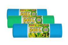 Piskar vrećice za smeće 100 x 120 cm, 240 L / 5 komada / 3 kpl