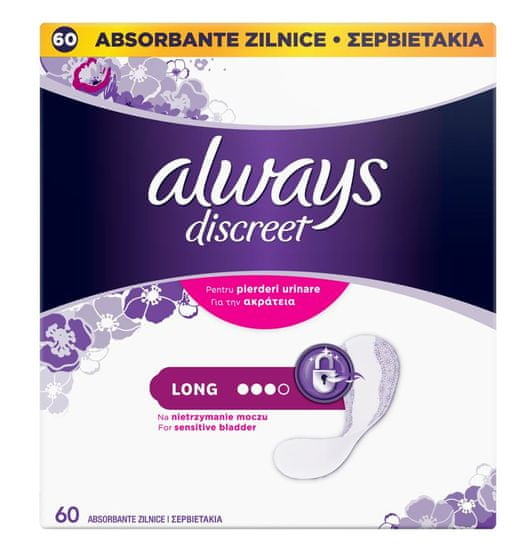 Always higienski vložki Long, 60 kosov