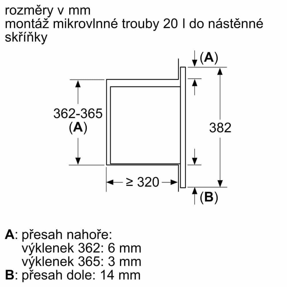 Bosch vestavná mikrovlnná trouba BFL623MS3