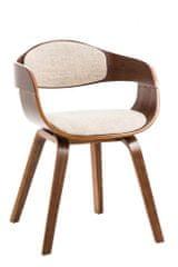 BHM Germany Jídelní židle Kingston, textil, ořech / krémová