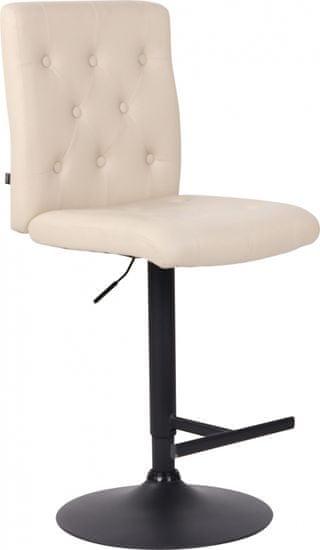 BHM Germany Barová stolička Kells, syntetická koža, krémová