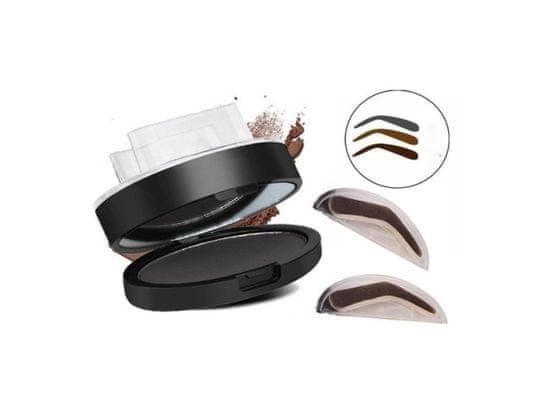 Alum online Make-up pečiatka na obočie so zrkadielkom - čierne