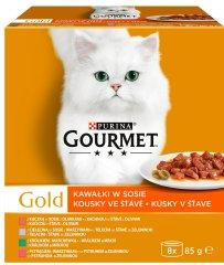 Gourmet Gold Multipack 12x(8x85g) - falatok lében zöldséggel