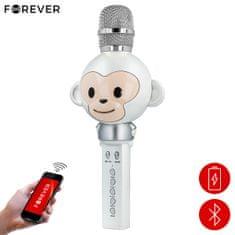 Forever AMS-100 mikrofon in zvočnik, Bluetooth, srebrn