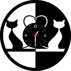COOLKOUSKY hodiny LP vynil 30cm Dvě kočky